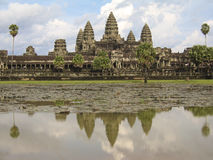 Reflections of Angkor Wat stock photos