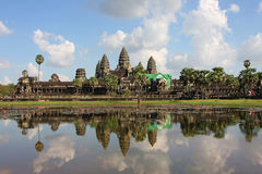 Reflections of Angkor Wat Temple Stock Images