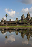 Reflections of Angkor Wat towers Royalty Free Stock Photo