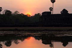 Reflections of Ankor Wat Royalty Free Stock Image