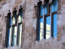Reflections in Arab Style Windows, Valencia Stock Photography