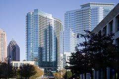 Reflections on the Atlanta Skyline Stock Photos