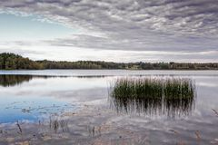 Reflections of the Autumn Lake Stock Photography