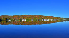 Reflections of autumn in NE Vermont HDR Royalty Free Stock Photos