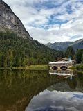 Reflections of the Bavarian Alps stock photos