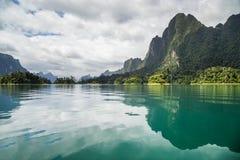 Reflections on beautiful dam Royalty Free Stock Photo