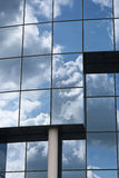 Reflections in Blue Window Royalty Free Stock Photography