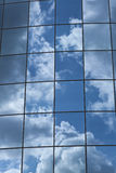 Reflections in Blue Windows Royalty Free Stock Photography