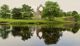 Reflections on Bolton Priory Royalty Free Stock Image