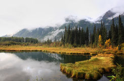 Reflections on a British Columbia lake Stock Photography