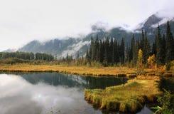 Reflections on a British Columbia lake. BC Canada Stock Photography