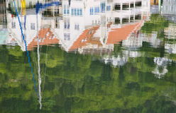 Reflections at Bryggen Royalty Free Stock Image
