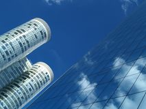 Reflections on a building. Business center Royalty Free Stock Images