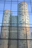 Reflections of buildings. To paris la defense from france Stock Photo
