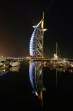 Reflections of the Burj Al Arab Stock Image