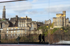 Reflections of Calton Hill: Edinburgh, Scotland Stock Image