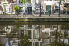 Reflections on  the canals of Amsterdam Royalty Free Stock Photo