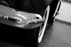 Reflections in chrome details of American classic car Stock Photo