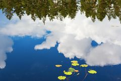 Reflections of clouds in the water surface Royalty Free Stock Photography