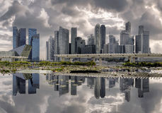 Reflections on a cloudy day Royalty Free Stock Image