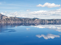 Reflections in Crater Lake Stock Image