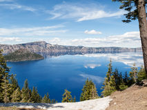 Reflections in Crater Lake Royalty Free Stock Images