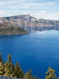 Reflections in Crater Lake Stock Images