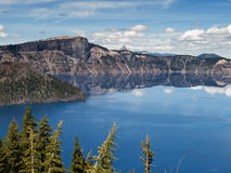 Reflections in Crater Lake Stock Photography