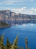 Reflections in Crater Lake Stock Photos