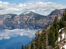 Reflections in Crater Lake Royalty Free Stock Photos