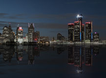 Reflections on Detroit Royalty Free Stock Photo