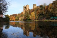 Reflections of Durham Cathedral Royalty Free Stock Images