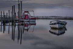 Reflections at Dusk on a High Tide royalty free stock photography
