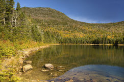Reflections on East Pond in New Hampshire's White Mountains. Royalty Free Stock Images