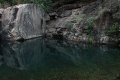 Reflections in Emma Gorge, The Kimberleys Royalty Free Stock Photo