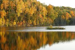Reflections of fall Royalty Free Stock Photos