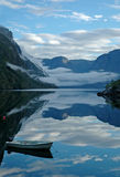 Reflections on the fjord. Scenic image of reflections on the fjord Royalty Free Stock Photography