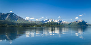 Reflections in fjord Royalty Free Stock Images