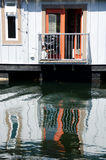 Reflections in float house village in Victoria -3 Royalty Free Stock Photos
