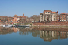 Reflections on the Garonne in Toulouse Royalty Free Stock Photography
