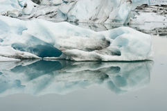 Reflections in glacier lagoog Stock Images