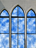 Reflections In Glass 2. This is the second in the series of my church in Valdosta GA, USA. I hope you enjoy this. Clouds added in Photoshop Elements to give the stock photo