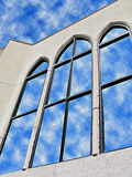 Reflections In Glass 4. Church in Valdosta GA, USA royalty free stock images