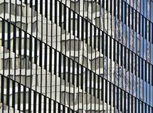Reflections on glass building Royalty Free Stock Photos