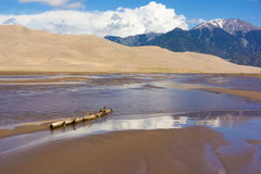 Reflections at the Great Sand Dunes National Monument Royalty Free Stock Image