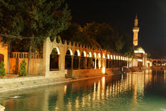 Reflections of Halil Rahman Cami on  the pool of Abraham Stock Photo