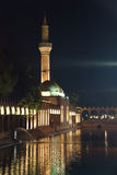 Reflections of Halil Rahman Cami on  the pool of Abraham Royalty Free Stock Image