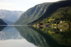 Reflections in Hardangerfjord, Norway Royalty Free Stock Photo