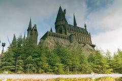 Reflections Hogwarts castle Stock Image