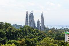 Reflections at Keppel Bay seen from Mount faber rainforest Stock Images